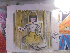 891 (en-ri) Tags: ska valentino nero giallo rosso amore love disegno acquerelllo manifesto poster ragazzo boy firenze wall muro graffiti writing