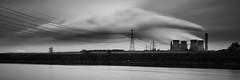 Mersey power (another_scotsman) Tags: mersey fiddlersferry powerstation longexposure mono landscape industry