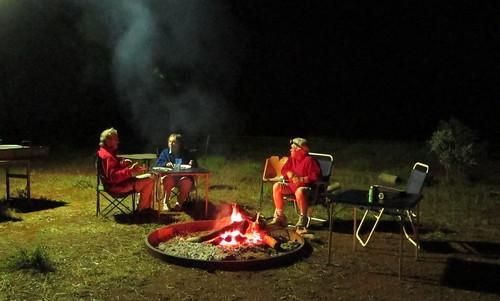 Camp under power light