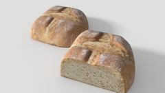 Bread (JamieGEntertainment) Tags: bread blender3d art blender 3d texture model modeling low poly lowpoly design image 3dimage 3dart render rendered 1strender