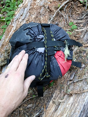Goat Rocks, Day 2 - Sleeping Bag found above Saddle Creek. (chadcmarsh) Tags: naches washington unitedstates us