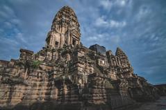 Angkor Wat... (Syahrel Azha Hashim) Tags: touristattraction building ancientarchitecture siemreap ancientcivilization travel colorimage naturallight heritage structure light simple unesco colors colorful details beautiful dramaticsky angkorwat historicbuildings history architecture asia cambodia angkor temple clouds
