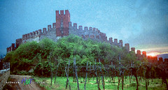 Castle Suave Italy (Gary R. Hughes) Tags: tbt watercoloreffect castle italy suave