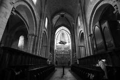 Altar Santa Maria de Poblet (steelmancat) Tags: poblet cister romanic catalunya esglesia monestir church historia bn bw