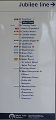 West Ham sign . (AndrewHA's) Tags: west ham railway station london underground lul jubilee line sign diagram list
