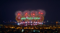 Philippines - Dragon Fireworks : Diversity in motion (Claude_F ☺ Alpha_06) Tags: 2018 cannes feuxdartifices paysagenocturne sonyalpha7m3 sonyfe85mmf18