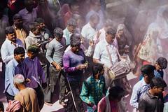 Gulal Covered Pilgrims, Holi in Vrindavan India (AdamCohn) Tags: abeer adamcohn hindu india vrindavan gulal holi pilgrim pilgrimage अबीर गुलाल होली