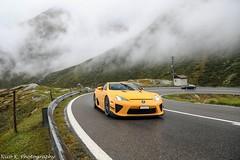 LFA Nürburgring Edition (Nico K. Photography) Tags: lexus lfa nürburgring edition orange rare rain wet nicokphotography switzerland gotthardpass