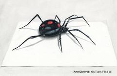 Cómo dibujar una viuda negra en 3D - Araña - Narrado (artedivierte) Tags: arte dibujo artedivierte araña viudanegra tutto3 artistleonardo leonardopereznieto patreon tutorial 3d