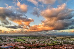 Rainhill from above (Steve Samosa Photography) Tags: sunset dronecamera drone droneshot droneview aerial aerialphotography aerialshot clouds merseyside rainhill sthelens