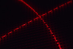 Red X (adamopal) Tags: canon canon7d canon7dmkii canon7dmarkii uv uvlight redx fakex x diy lightexperiment lightingexperiment laserpointer laser pointer grid macro macro100mm 100mm black red grey