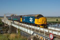 37409 Reedham 24/07/18 - 37409 crawls across Reedham Swing Bridge with 2J67 0747 Lowestoft to Norwich Greater Anglia service. (rhayward92) Tags: 37409 class 37 reedham 2j67 greateranglia short set