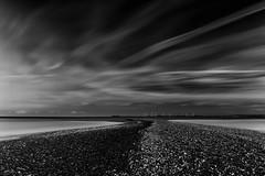 Sand Bar V2 (merseamillsy) Tags: blackandwhite calm water mono mersea clouds sandbar longexposure coastline formatthitech coastal sky seascape tide coast merseaisland sea