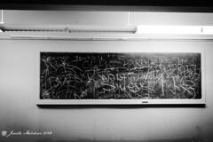 Written Past (jenelle.melchior) Tags: chalkboard writing black white monochrome classroom historical seminary churc kenmore church