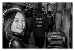 TRIP 1500 (L E E . .) Tags: lj street streetphotography blackandwhite bnw bw funny happy ricoh richgr monochrome contrast