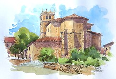 Iglesia Riaza (P.Barahona) Tags: arquitectura edificio pleinair urbansketcher rural urbano