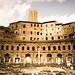 Ruins of Trajan's Forum in Rome, Italy