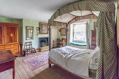Curved bed canopy (Carol Spurway) Tags: pockerleynewhouse pockerleyoldhall museum workingmuseum 1820s countydurham openairmuseum beamish stanley livingmuseum