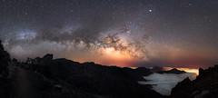 La Palma Caldera (peter shah) Tags: night landscape milky way