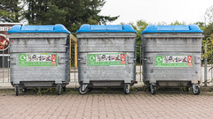 Three Boxes (syf22) Tags: refuse rubbish trash discarded throw away unwanted unloved subplus