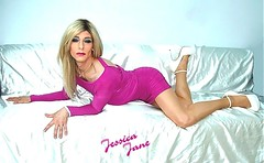 Slinky (jessicajane9) Tags: tg crossdresser transvestite feminization tranny cd tgurl crossdressing feminised trans xdress transgender m2f crossdress tgirl heels tv tights pantyhose makeup