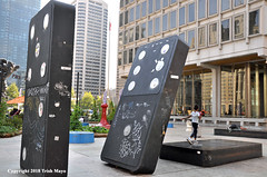 Tumbling Like Dominoes (Trish Mayo) Tags: publicart dominoes gamepieces art sculpture philadelphia
