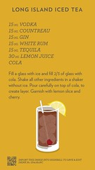 Long Island Iced Tea, discover more cocktails at https://ift.tt/2dslAbC (cocktailflashcards) Tags: cocktail long island iced tea liit vodka gin white rum cointreau tequila lemon juice cola