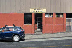 Mommy's Laundromat (Curtis Gregory Perry) Tags: prince rupert british columbia mommys laundromat laundry mommy mom mother jeep grand cherokee suv street 6th 6 nikon d810 sign canada canadian