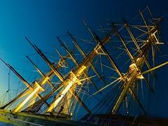 Greenwich , Night in London (markhlewis170262) Tags: tea ship masts night london greenwich cuttysark