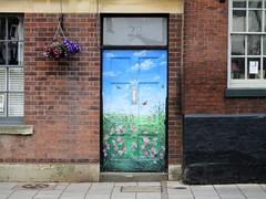 Number 22, revisited (pefkosmad) Tags: streetart door art tewkesbury gloucestershire england uk entrance flowers butterflies brandonmurals wwwbrandonmuralscouk bespoke murals frontdoor brandon