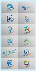 Dental Logo, Dentist Stomatology Logo 2 (denayunebgt) Tags: dental logo icon vector dentist health care tooth medical illustration clean smile mouth clinic doctor teeth protection treatment root implant hospital orthodontic surgery green beauty stomatology eco logotype whitening toothbrush