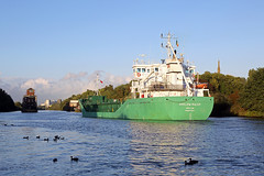 'Arklow Ruler' Barton upon Irwell 23rd August 2018 (John Eyres) Tags: arklow ruler nearing her destination cargills trafford park late day barton road swing bridge is open ready for passing 230818