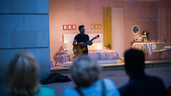 Street Musician (juancamilo137) Tags: street musician music pink blue color belgium bélgica calle música amberes antwerp antwerpen public amazing singer sing people zara home brand