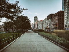 Evening (ancientlives) Tags: chicago illinois il michiganavenue usa streetphotography night evening lights august 2018 monday summer weather humid buildings architecture towers skyscrapers skyline city cityscape chicagoparks walking travel trips