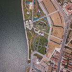 Bird's eye view of a park with playground and sports courts in Fethiye, Turkey thumbnail