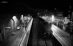 Monochrome A4 Pacific (JohnS87) Tags: nighttime railtour steam leicestershire mowbray melton pacific a4 gresley