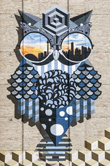 St. George owl mural (jer1961) Tags: toronto stgeorge stgeorgeowl owl owlmural universityoftoronto bloorstreet mural