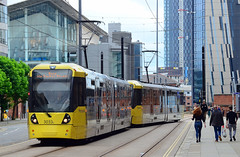 Manchester Trams. (curly42) Tags: manchestermetrolink tram tramcar 3033 3053 manchestertrams transport travel publictransport manchester