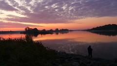 Der Angler (sabine1955) Tags: sonnenaufgang sunrise angler mann mensch day cloudy elbe geesthacht morgendämmerung dawn fluss river