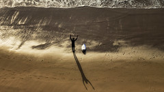 'Praise Be' (Canadapt) Tags: man surfer shadow beach sea waves sunset surfboard magoito portugal canadapt