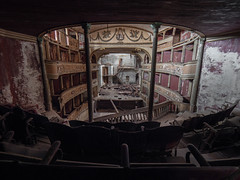 Abandoned theater (NأT) Tags: abandoned abandon abandonné abandonnée abbandonato abbandonata ancien ancienne alone architecture theater théâtre show actor cinema zuiko explorationurbaine em1 exploration explore exploring empty explo explored rust rusty ruins rotten trespassing urbex urban urbain urbaine urbanexploration interior inside olympus inexplore omd old past photography memories history decay decaying derelict dust decayed dusty forgotten forbidden nobody neglected building verlassen closed creepy colors