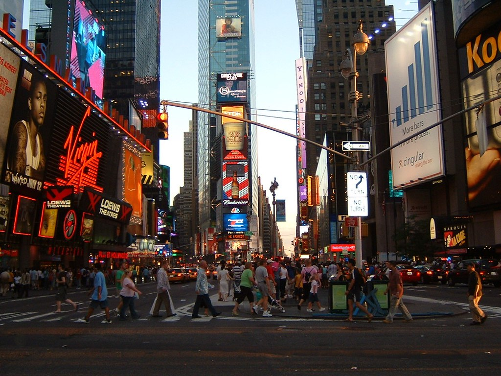 095895490b Times Square (christinearoundtheworld) Tags  america unitedstates nyc  newyork timessquare light people advertising traffic