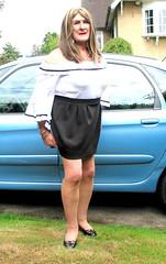 Janebrdotcar-002 (fionaxxcd) Tags: transvestite tranny trannie m2f mtf ladyboy crossdresser crossdressing bust longhair blackpatentshoes bardottop