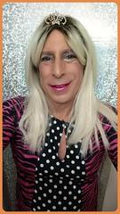 Polka dots 💋💋💋💕💕💋💋💋 (bevhills2) Tags: transgender trannyliscous gf gfe browneyes pinklipstick makeup dominant sub sexysmile tg tgirl tgurl blonde