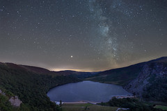 A Starry Pint of Guinness Please (cassidyduberry) Tags: astro milkyway longexposure ireland wicklow stars newmoon astrophotography night lake reflection edit autumn galacticcore mars earth