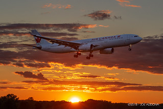 Air Canada Airbus A330 on final for runway 06L.