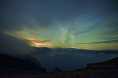 Peek a-boo point (trismi) Tags: craterlake stars milkyway summerofstars halftheparkisafterdark nikond750 sigma14mm nikon sigma astrophotography nightsky craterlakenationalpark moodystars