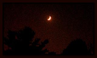 Waxing Crescent Moonscape #2