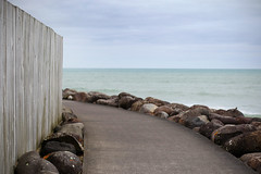 outside the fence (Paul J's) Tags: newplymouth taranaki coastalwalkway newplymouthcoastalwalkway fence tasmansea coastal landscape