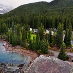 Views of the Moraine Lake Lodge from Atop the Rockpile (Banff National Park) thumbnail